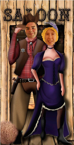 Western-Saloon-Couple-Stand-in-Cardboard-Cutout